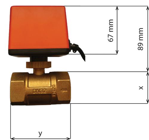 IB-Qxx - Zawór kulowy z siłownikiem